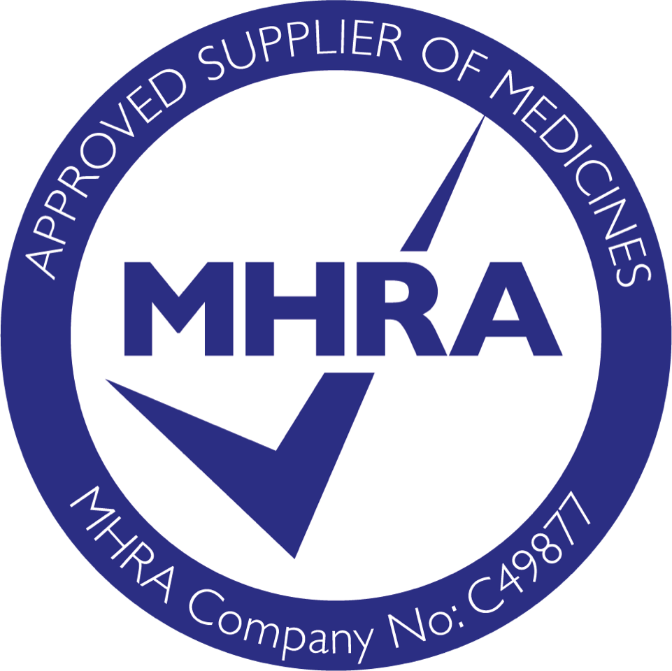 Approved Supplier of Medicines: MHRA Company No: CC49877